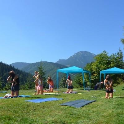 Yoga chata Lúčky, august 2015